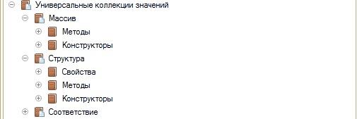 Универсальные коллекции значений в синтакс-помощнике