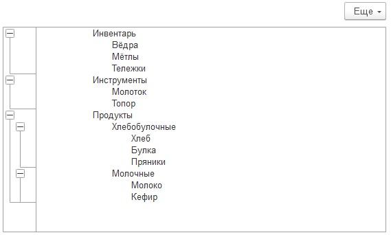 Группировка табличного документа 1С